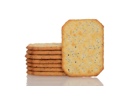 wholemeal: multigrain crackers Stock Photo