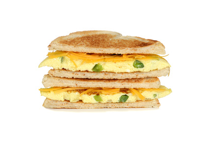omelet: toasted western sandwich with cheese
