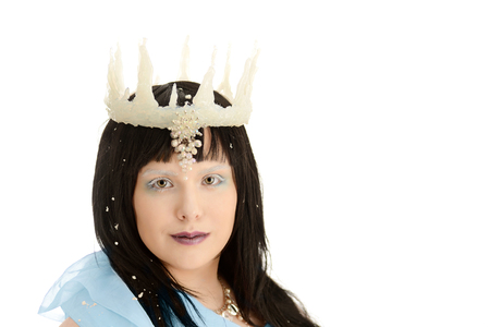 ice queen: isolated ice queen with crown Stock Photo
