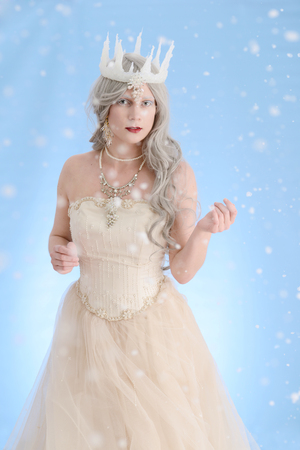 snow queen with ice crown