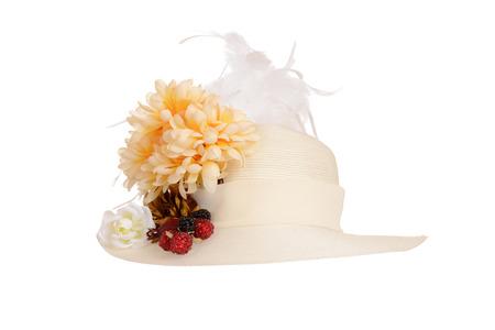 white hat: ladies victorian hat