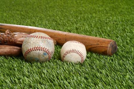 hardball: closeup soft ball and hardball