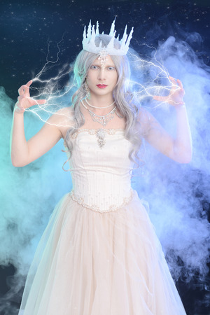 ice queen with lighting magic