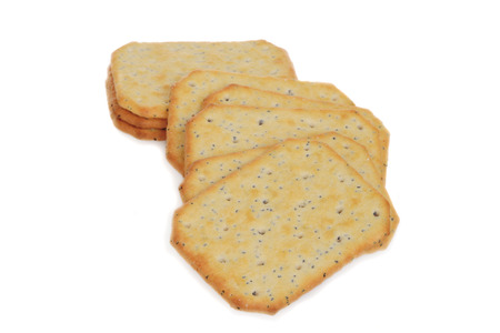 wholemeal: closeup multi grain crackers Stock Photo