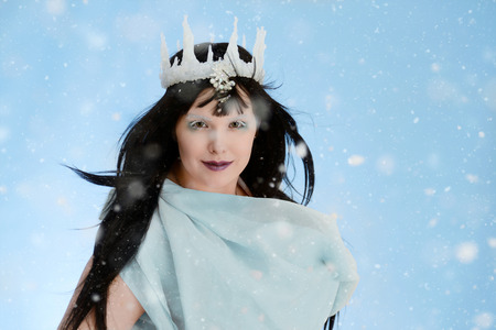 ice queen: Ice queen with blue dress Stock Photo