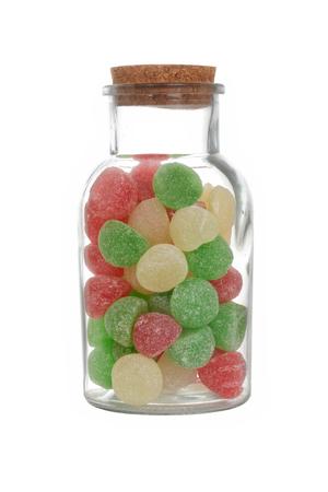 孤立した jar クリスマスキャンディ ガム ドロップ 写真素材 - 67077032