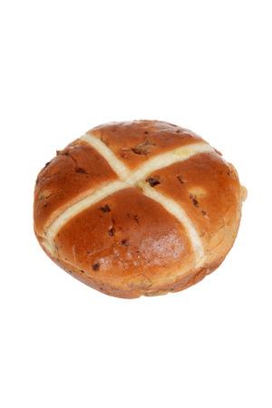 isolated hot cross bun