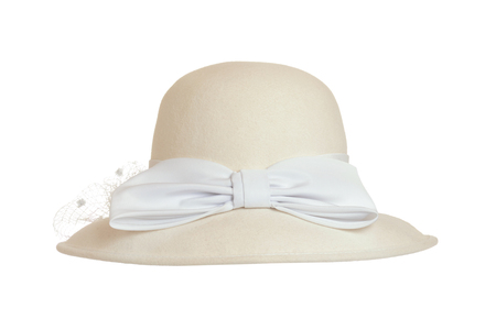 Old fashioned women felt hat