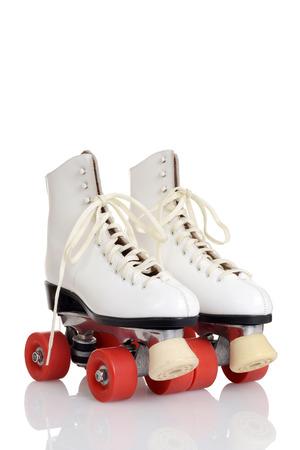 Vrouwen witte quad roller skates