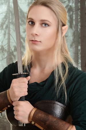 faerie: portrait of female wood elf