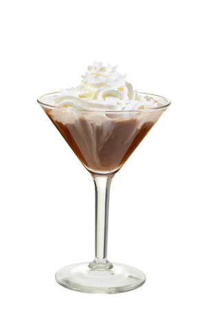 isolated chocolate martini with whipped cream