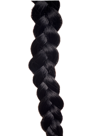 closeup isolated black hair braid
