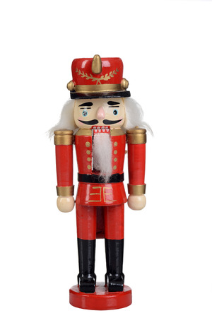 nutcracker toy soldier isolated