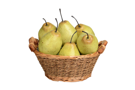Isolated basket of pears Banco de Imagens