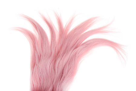 top view piece of pink weft hair Archivio Fotografico