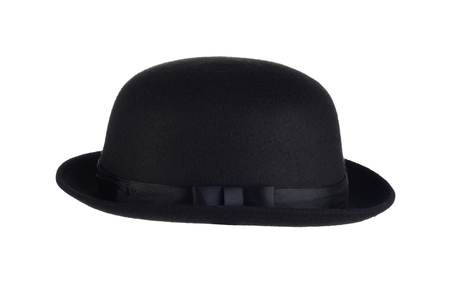 men isolated bowler black hat