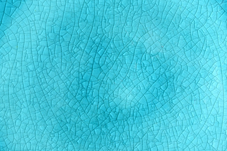 blue cracked glass plate background