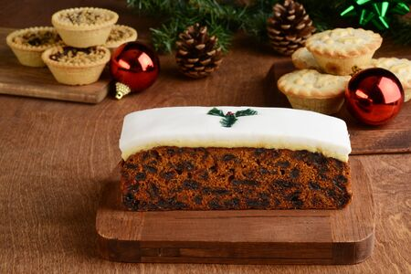 christmas baked food with decorations