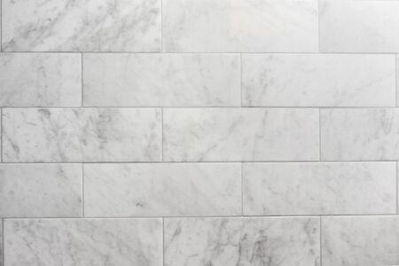 subway tile carrara marble wall background Stock fotó