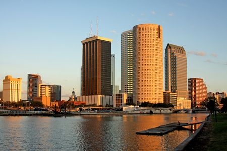 tampa bay: Tampa City Skyline with River Florida