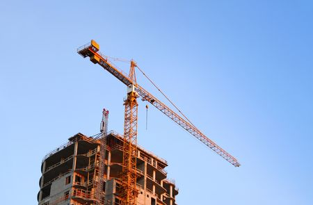 Crane at the Construction Site Stock Photo - 4073215