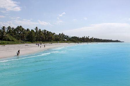 Sandy Beach at Gulf Of Mexico, FLorida USA