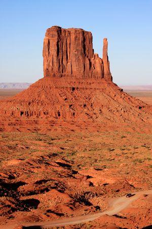 Rok Formation,Monument Valley Tribal Park, Navajo, Arizona, USA Stock Photo