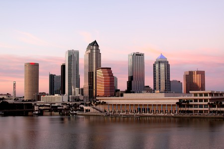 tampa bay: Tampa Skyline - Panoramatic view on modern skyscrapers Stock Photo