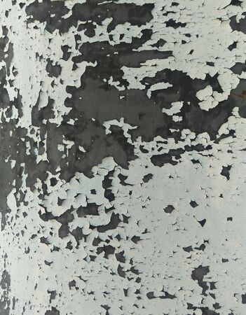 abstract background of gray-blue craquelure of old oil paint