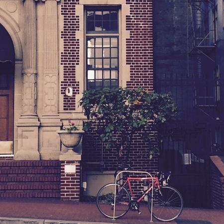 Bike into Downtown Фото со стока