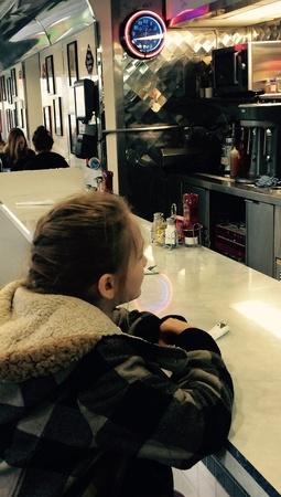Girl at diner