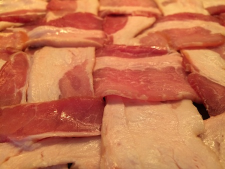 weave: Bacon woven for delicious dinner