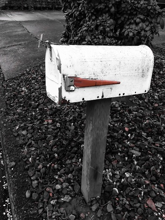 Mailbox red flagged Stock Photo - 43174542