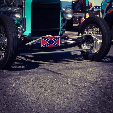struts: Vintage car struts Southern heritage Stock Photo