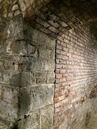 Archways of the underground Фото со стока