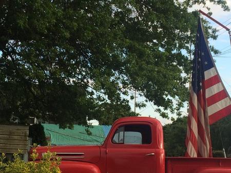 pickups: American Pride and pickups Stock Photo