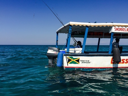 deep sea fishing: Glass bottom boat
