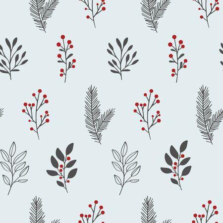 Winter floral pattern. Illusztráció