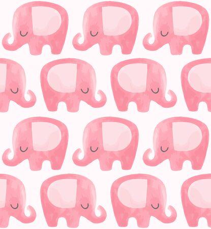 Elephant vector pattern. Foto de archivo - 133350710