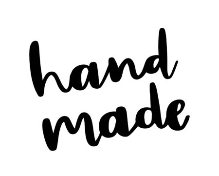 Hand made modern calligraphy. Hand drawn lettering phrase. Stylish logo, emblem for product packaging, shop, website, blog.
