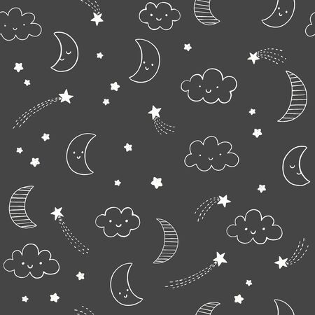 Cute sky vector seamless  pattern