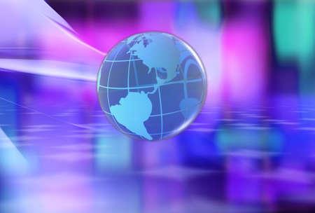 afrika: 3d render of globes.