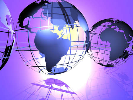 3d render of globes. Stock Photo - 223864