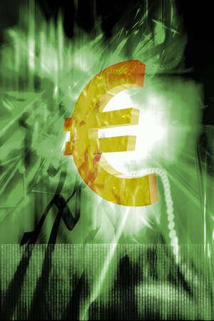 billing: Illustration of Euro sign.