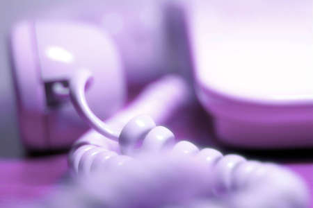 pushbuttons: blured Close-up of telephone. Stock Photo