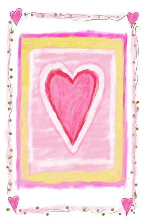 symbolism: Heart sign digital illustration Stock Photo