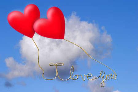 Flying hearts photo