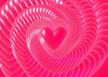 forever: Digital illustration of forever love. 3D Digital illustration montage. Stock Photo