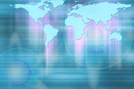 geosphere: illustration of World map.