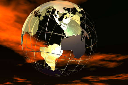 afrika: Fancy 3D rendered of world. Stock Photo